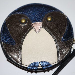 Round Fossil Owl Change/Coin Purse - MINT
